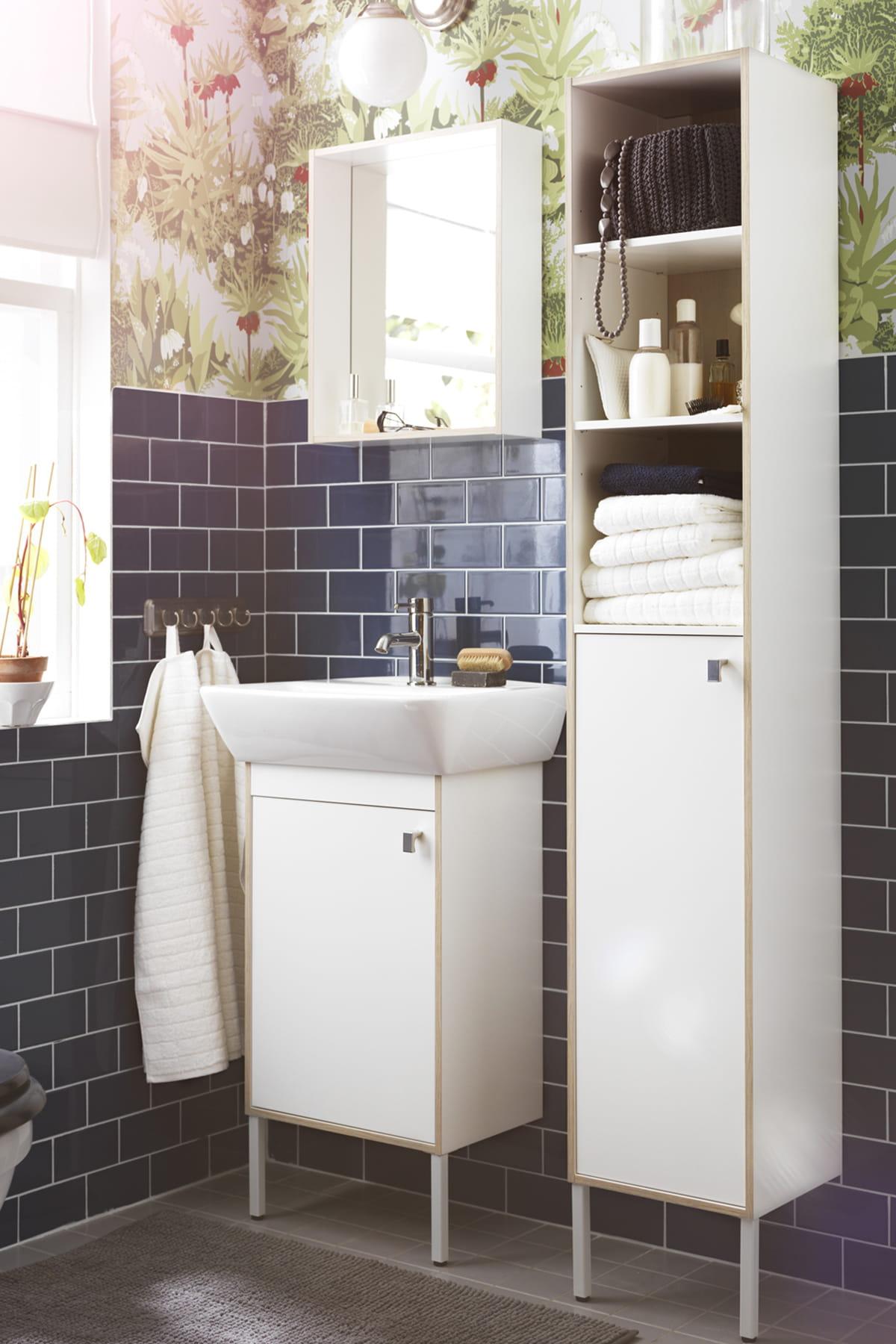 Choisir des meubles troits des produits malins pour am nager une petite salle de bains - Amenager badkamer ...