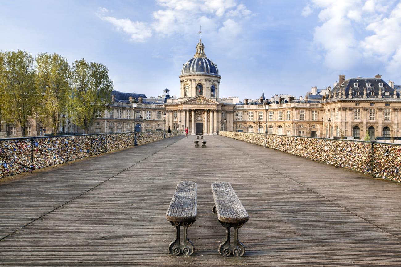 Le pont des arts paris - Le pont de lamour a paris ...