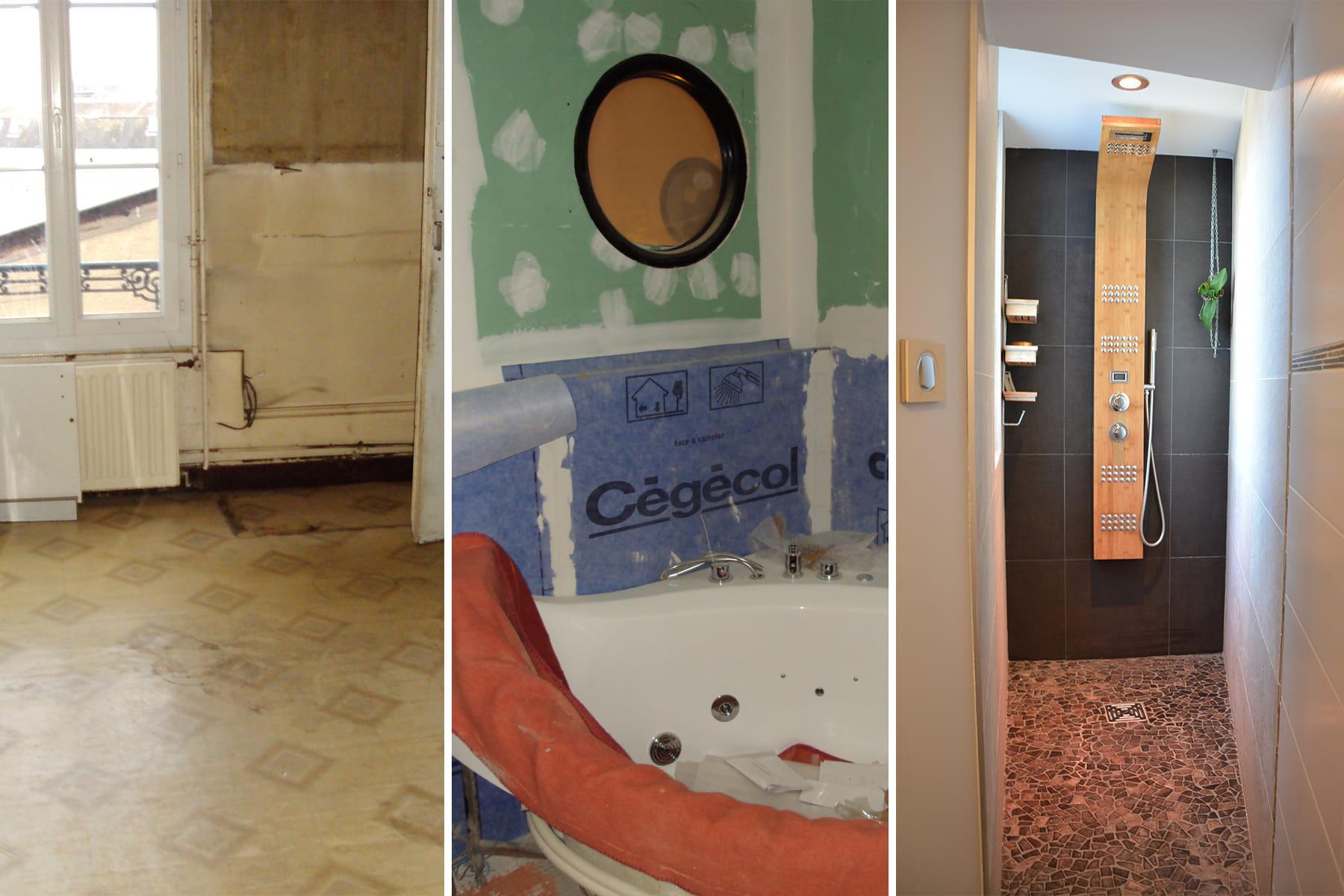 des ouvertures sp cifiques dans la salle d 39 eau la r novation d 39 une maison belle epoque. Black Bedroom Furniture Sets. Home Design Ideas