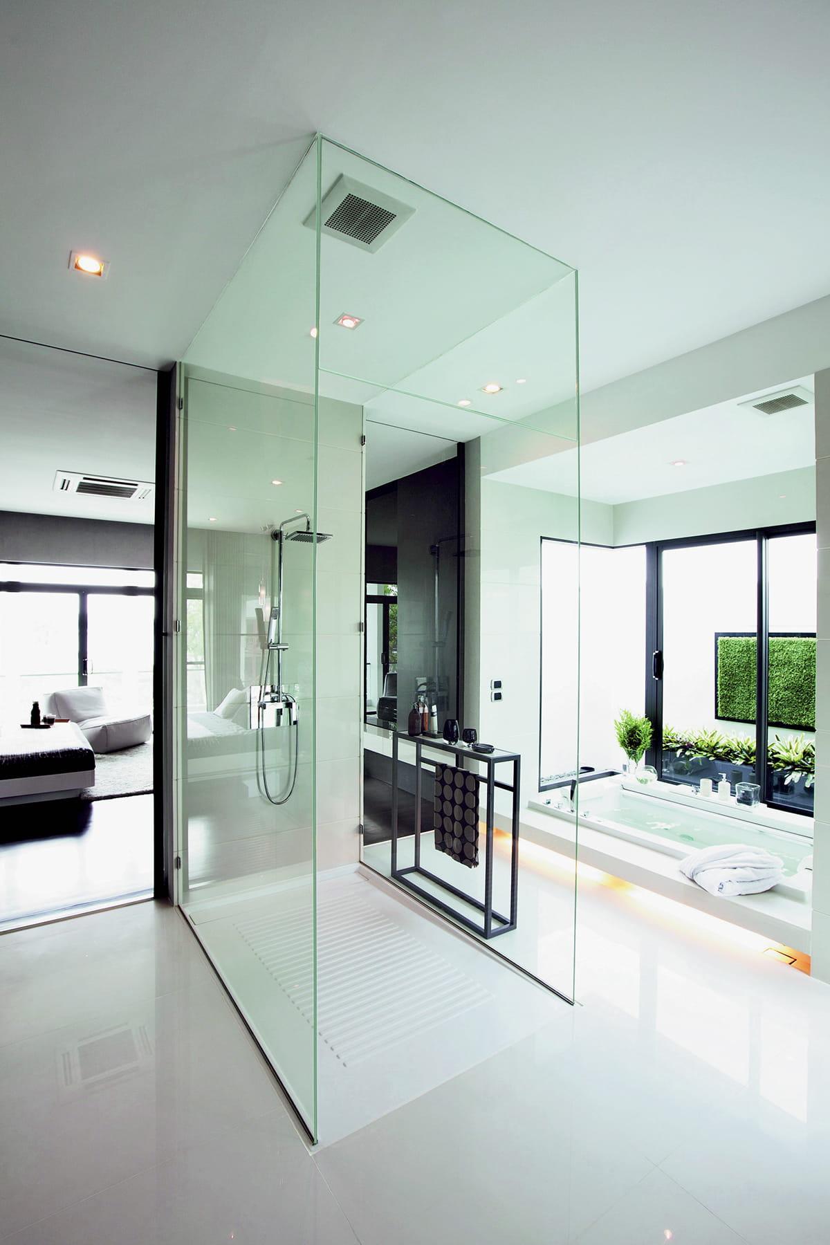 Un cocon de verre des salles de bains qui font r ver - Rever de salle de bain ...