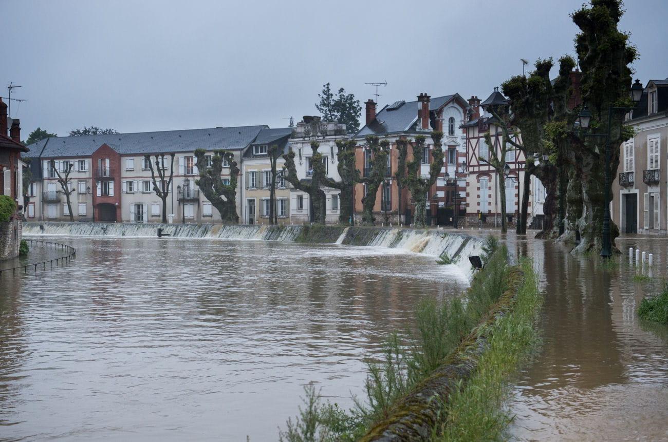 montargis loiret les photos chocs des inondations en