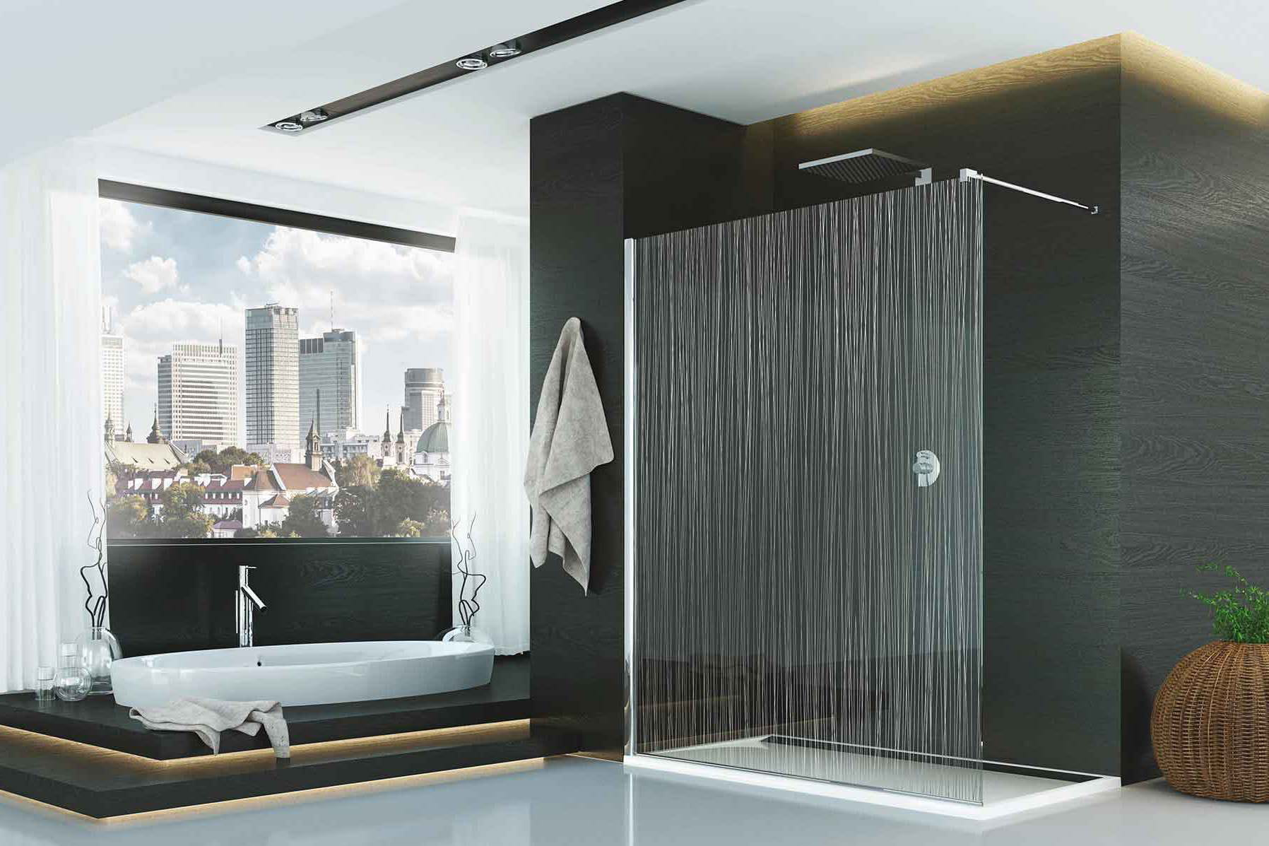 Salle de bain contemporaine douche italienne for Belle douche italienne