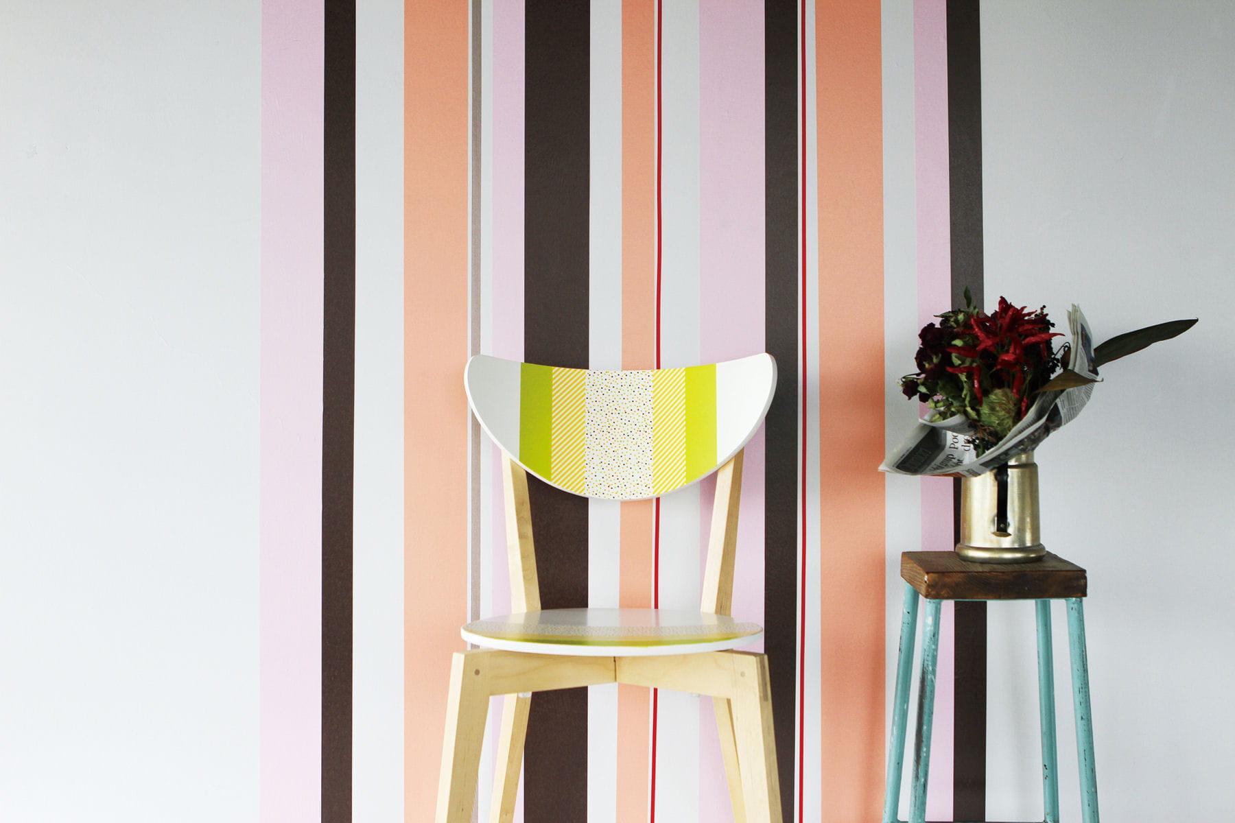 D corer un mur et relooker une chaise en bois for Relooker une chaise en bois