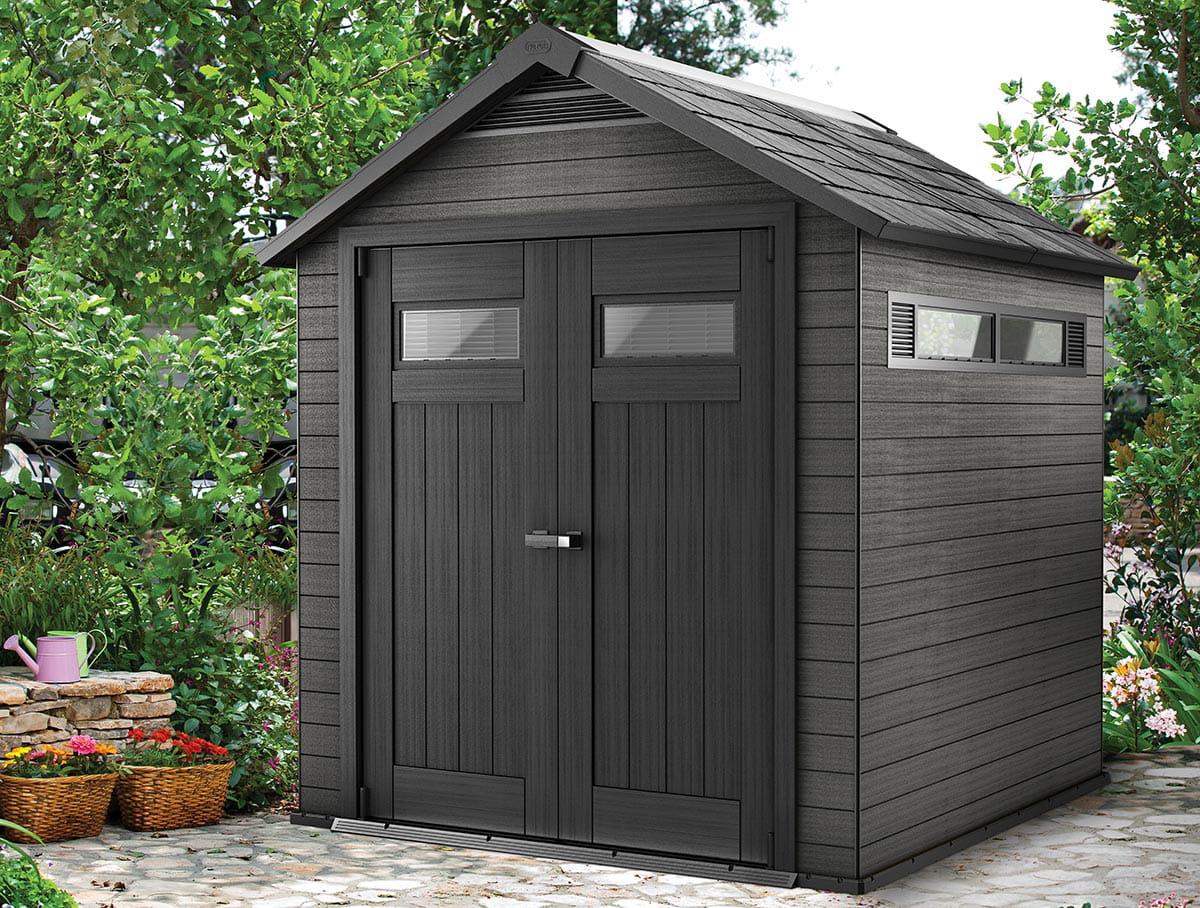 fusion la petite maison de jardin pour les outils des abris et cabanes de jardin modernes et. Black Bedroom Furniture Sets. Home Design Ideas