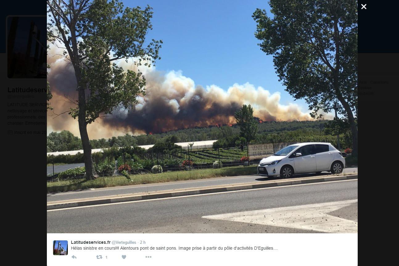 Aix en provence un important incendie attis par le for Incendie salon de provence