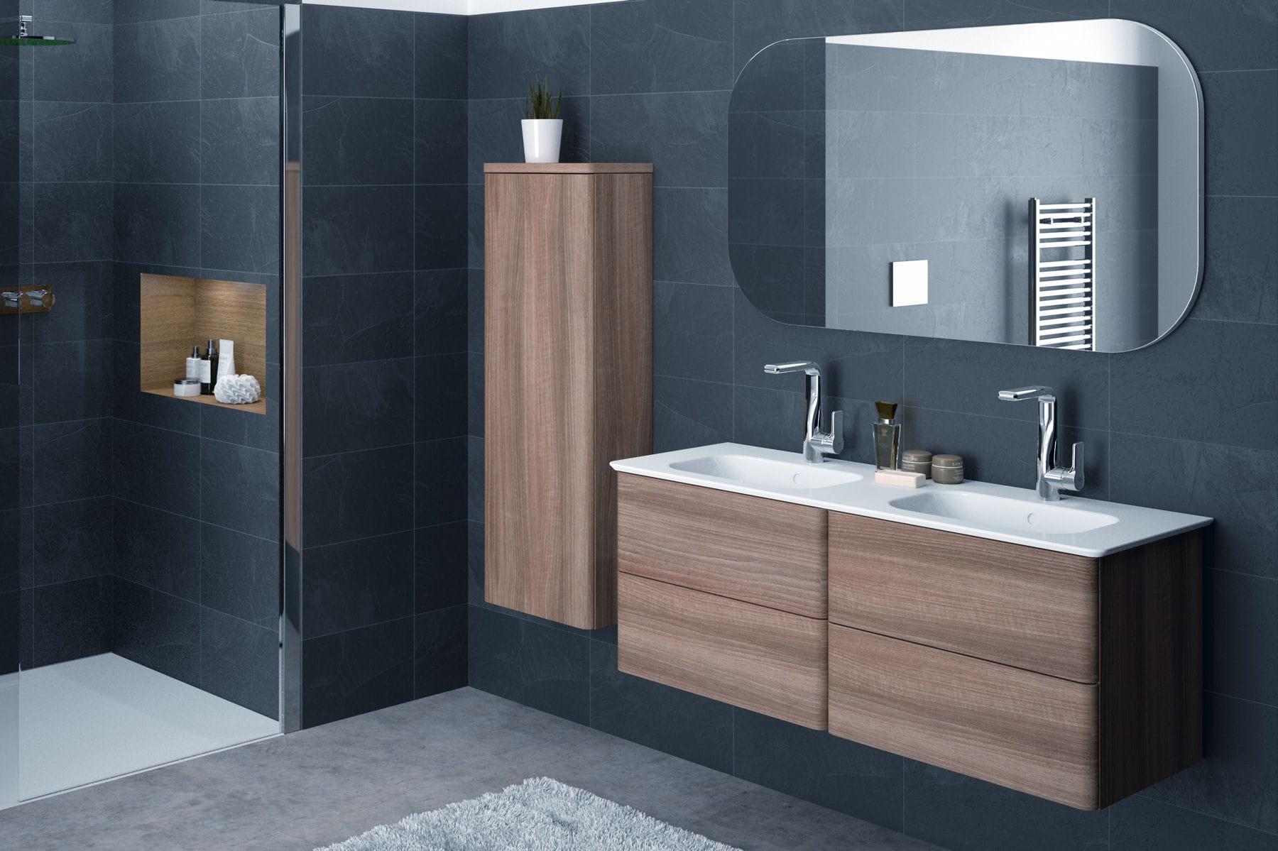 Un lavabo plan double l gant for Lavabo double cuisine