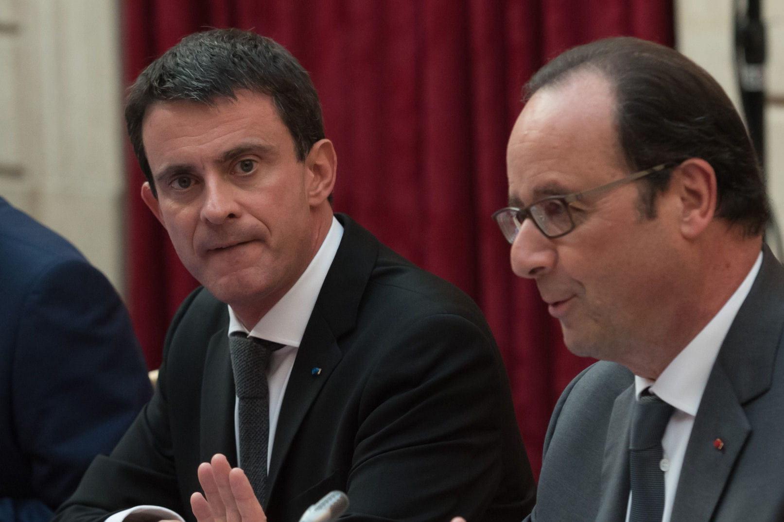 Poussée de fièvre au sommet de l'État — Hollande et Valls