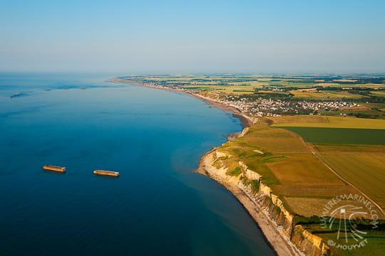 Le port mulberry d 39 arromanches photos du littoral de normandie linternaute - Port artificiel d arromanches construction ...