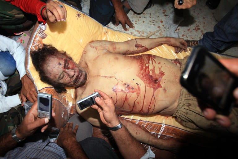 la mort de kadhafi