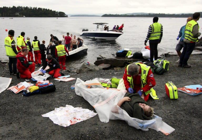 l'attaque en norvège