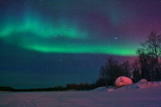 les nuances de l'aurore polaire