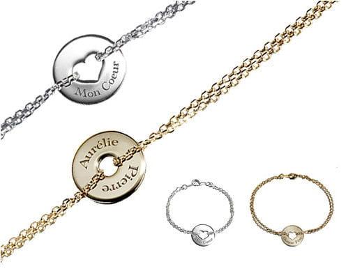 bracelet pr nom des id es cadeaux pour votre valentine linternaute. Black Bedroom Furniture Sets. Home Design Ideas