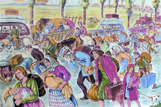 Histoire :  Anciennes affiches scolaires Exode-1940-1131554