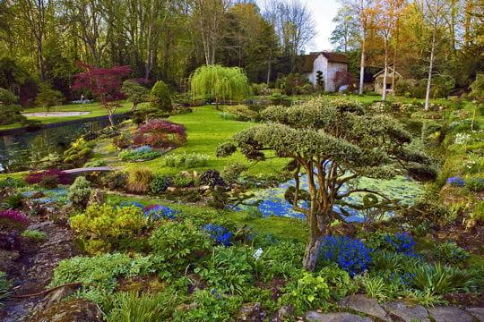Dans le parc du ch teau de courances en france balade dans les plus beaux jardins du monde - Les plus beaux jardins de france ...