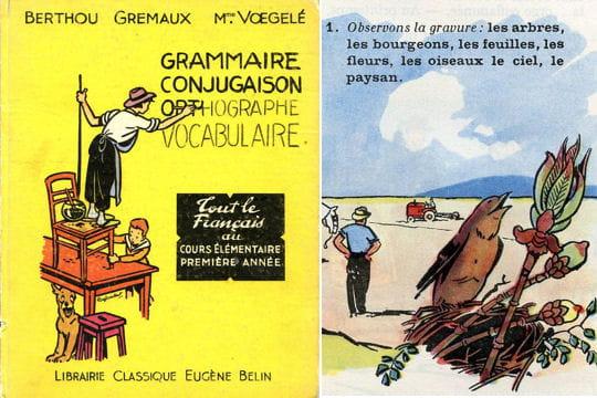 """1955 : """"Grammaire, Conjugaison, Orthographe, Vocabulaire"""" : Les manuels scolaires d'antan ..."""