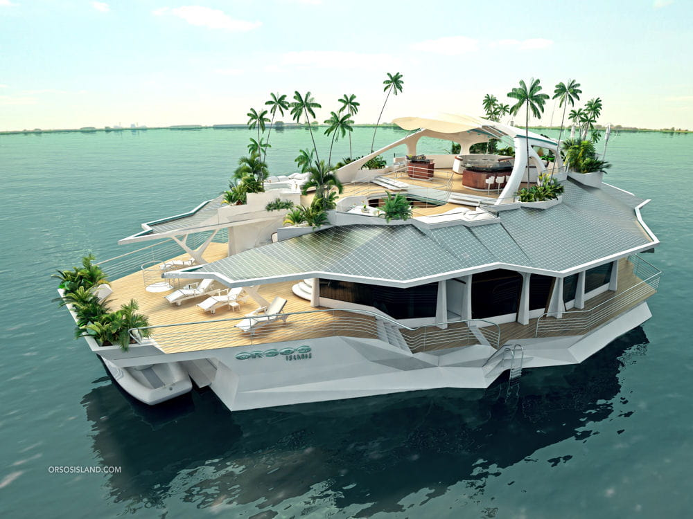Orsos Island : l'île flottante de luxe Radeau-luxe-1295827