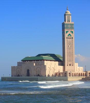 la mosquée hassan ii, à casablanca, au maroc.