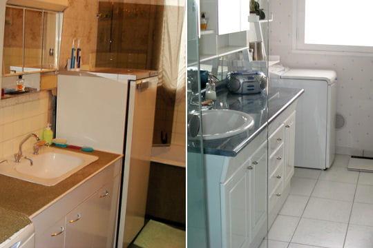 une salle de bains plus lumineuse 15 salles de bains r nov es par les lecteurs linternaute. Black Bedroom Furniture Sets. Home Design Ideas