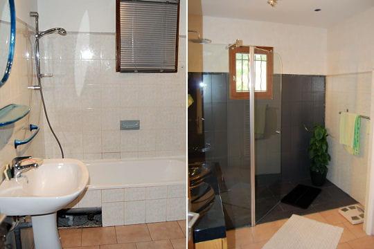 Une salle de bains avec douche italienne 15 salles de for Model de salle de bain italienne