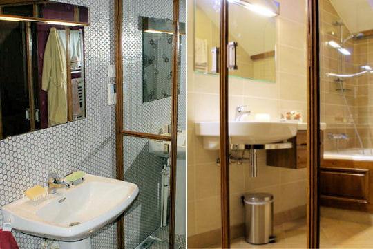 une salle de bains fonctionnelle 15 salles de bains r nov es par les lecteurs linternaute. Black Bedroom Furniture Sets. Home Design Ideas