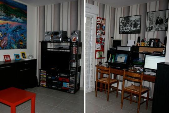 Le salon bureau construction d 39 une grande maison de for Espace bureau dans salon