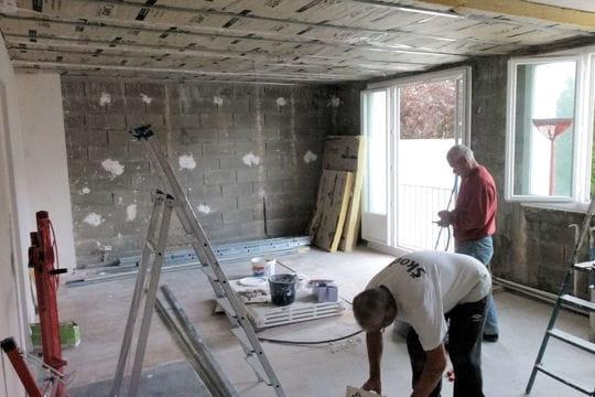pose de lambris pvc en plafond besancon travaux manuels artisanat hobby dalle de plafond. Black Bedroom Furniture Sets. Home Design Ideas
