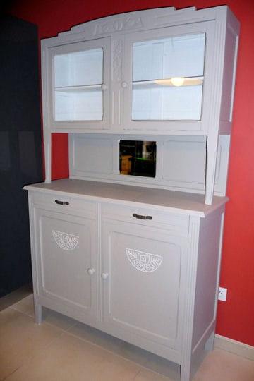 le r sultat l 39 ext rieur avant apr s relooking d 39 un buffet des ann es 30 linternaute. Black Bedroom Furniture Sets. Home Design Ideas