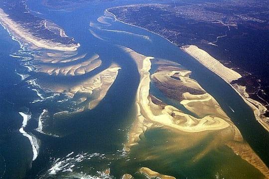bassin d'arcachon : vol au dessus du bassin d'arcachon