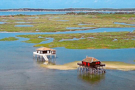 bassin d'arcachon : cabanes tchanquées