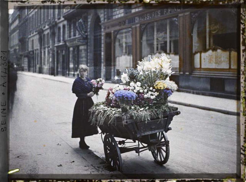Photo paris au d but du xxe si cle en couleurs linternaute - Debut du 20eme siecle ...