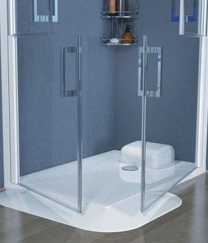 Un receveur de douche extra plat notre s lection de douches l 39 italien - Receveur douche italienne extra plat ...