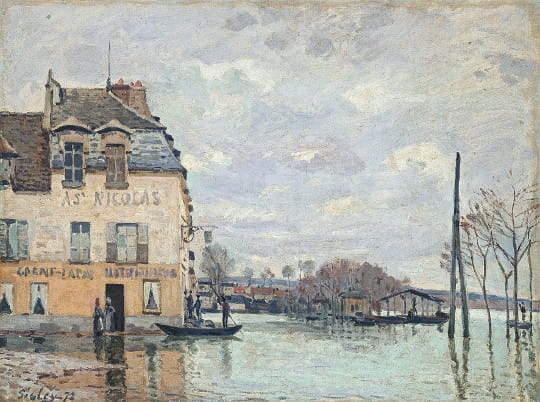 alfred sisley inondation port marly les chefs d 39 uvre impressionnistes sont rouen. Black Bedroom Furniture Sets. Home Design Ideas