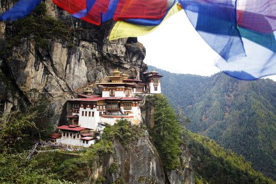 le monastère taktshang au bhoutan