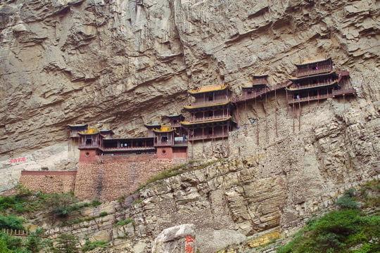 le monastère suspendu de hengshan