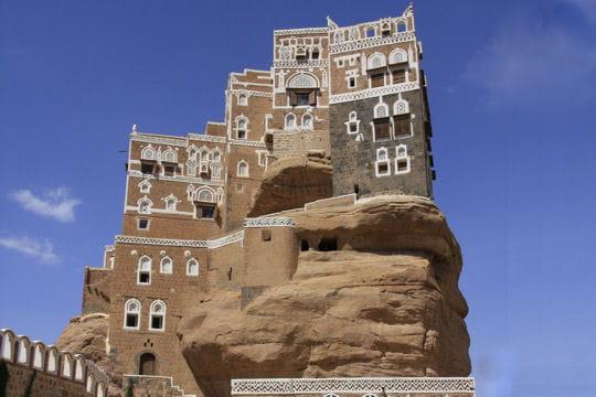 le palais du rocher au yémen