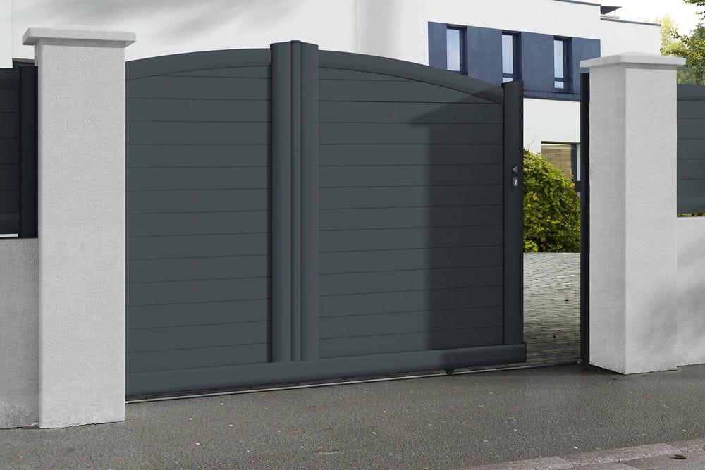 un portail la forme galb e. Black Bedroom Furniture Sets. Home Design Ideas