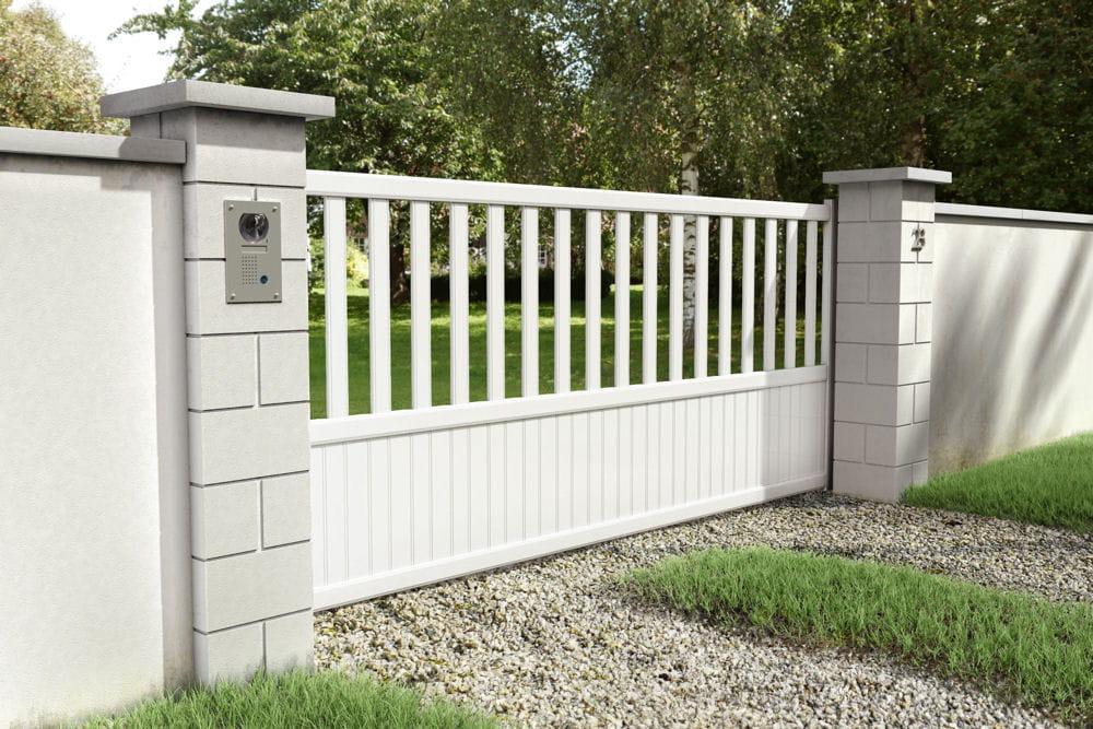 un portail blanc ajour 10 portails pour embellir et. Black Bedroom Furniture Sets. Home Design Ideas