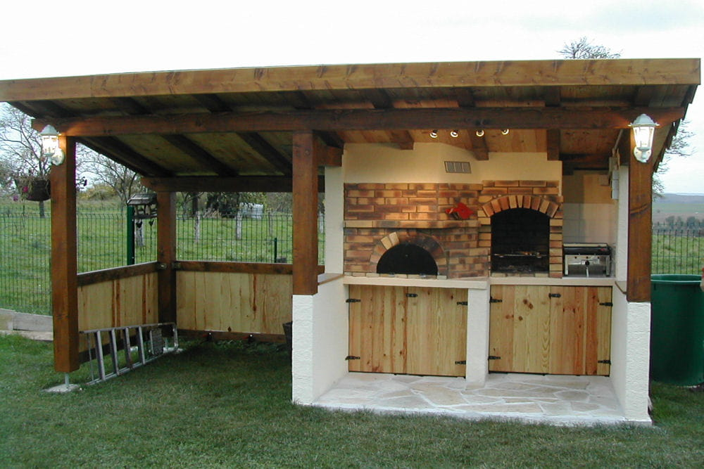 Ensemble barbecue et four pain les plus belles id es for Fabrication barbecue exterieur