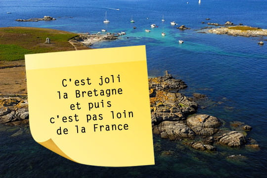 La Bretagne vue par Coluche