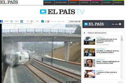 Accident de train en espagne la vidéo choc du déraillement