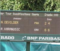 karanusic est le vainqueur des 2 premiers sets.