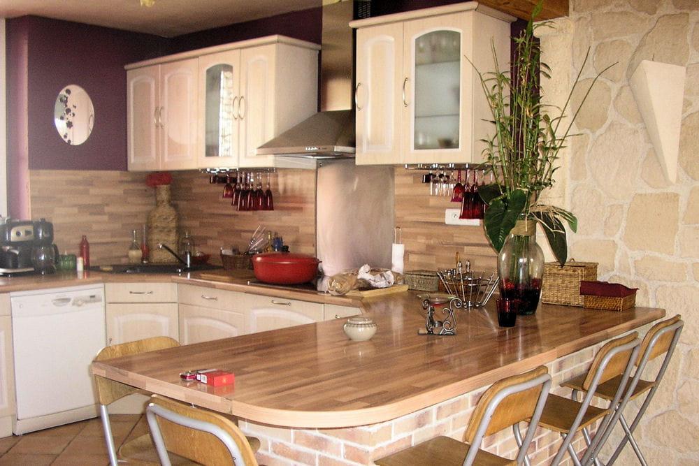 Une cuisine avec plan snack 15 cuisines am nag es par for Cuisines amenagees