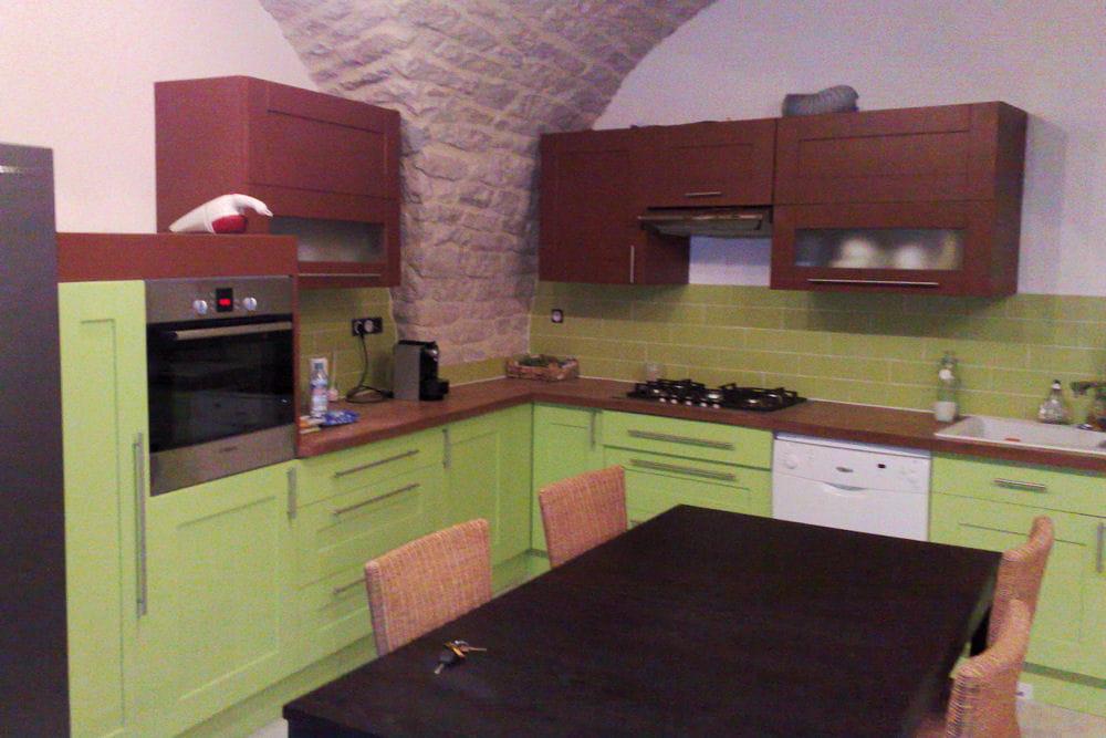 Une cuisine verte 15 cuisines am nag es par les lecteurs for Les cuisines amenagees