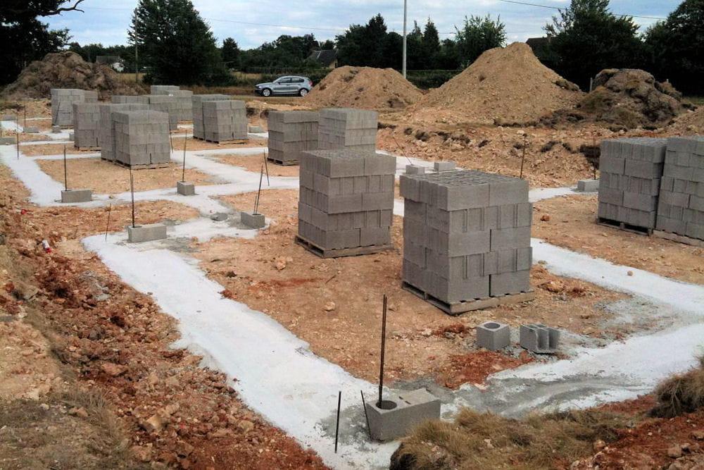 les fondations construction d 39 une maison cologique
