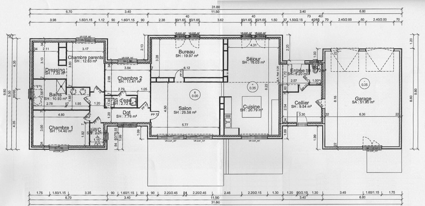 Le plan de la maison construction d 39 une maison - Plan de maison original ...