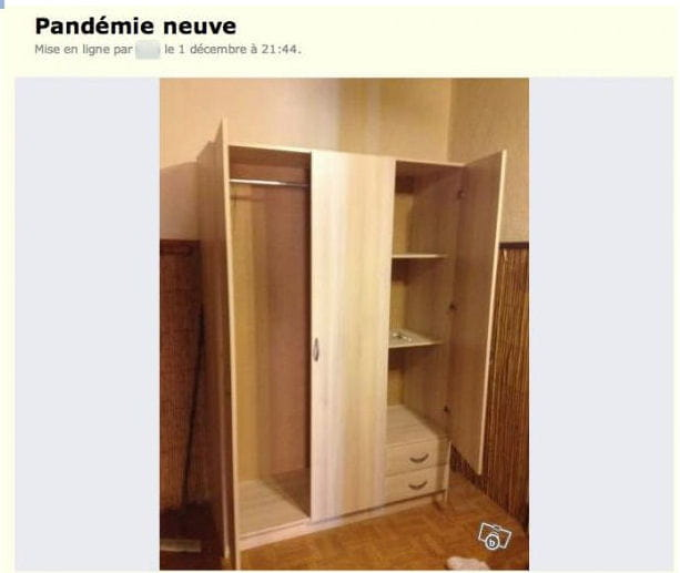 pand mie ou penderie les perles du bon coin linternaute. Black Bedroom Furniture Sets. Home Design Ideas