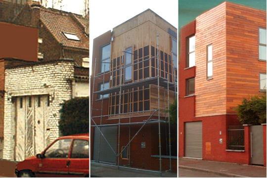Une petite maison devenue habitation design for Renovation petite maison de ville
