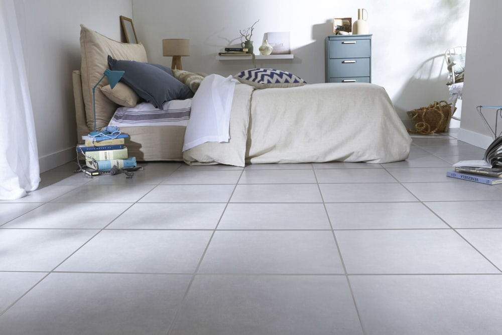 Carrelage newland grigio de saint maclou for Revetement sol chambre