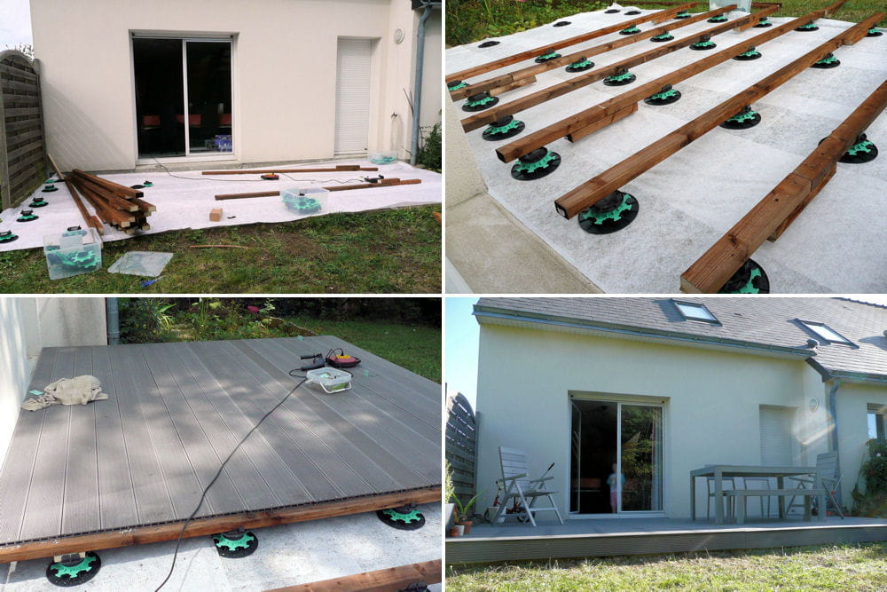 Construction d une terrasse en bois pictures to pin on - Construction d une terrasse ...