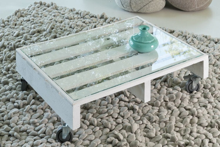 Le r sultat d couvrez comment transformer une palette en table basse lint - Comment transformer une palette en table basse ...